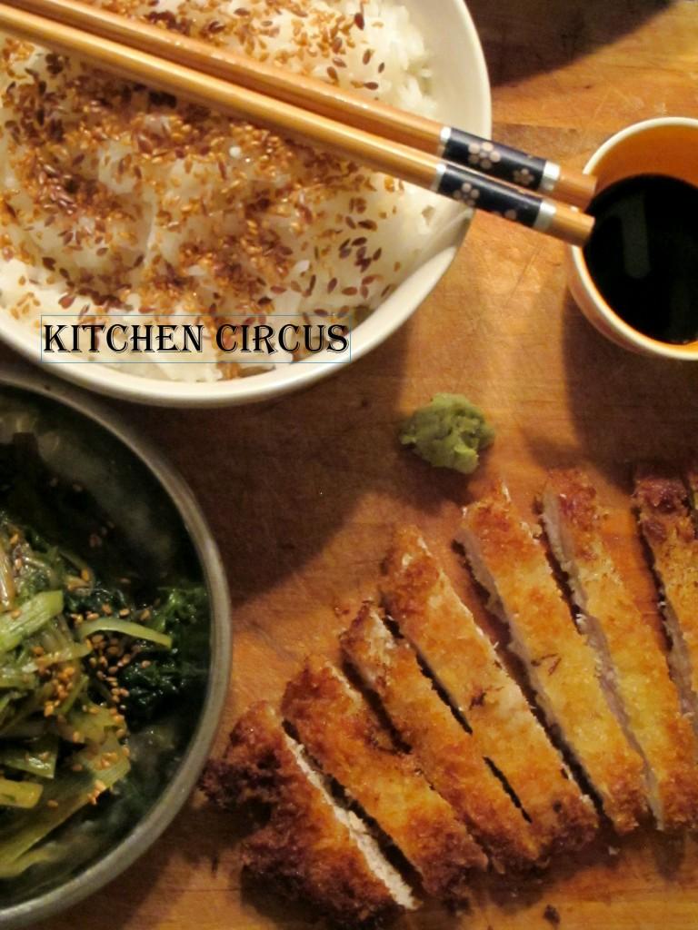 Kitchen: Porc Tonkatsu et Epinards à la sauce Miso et graines de sésame dans Kitchen img_3748