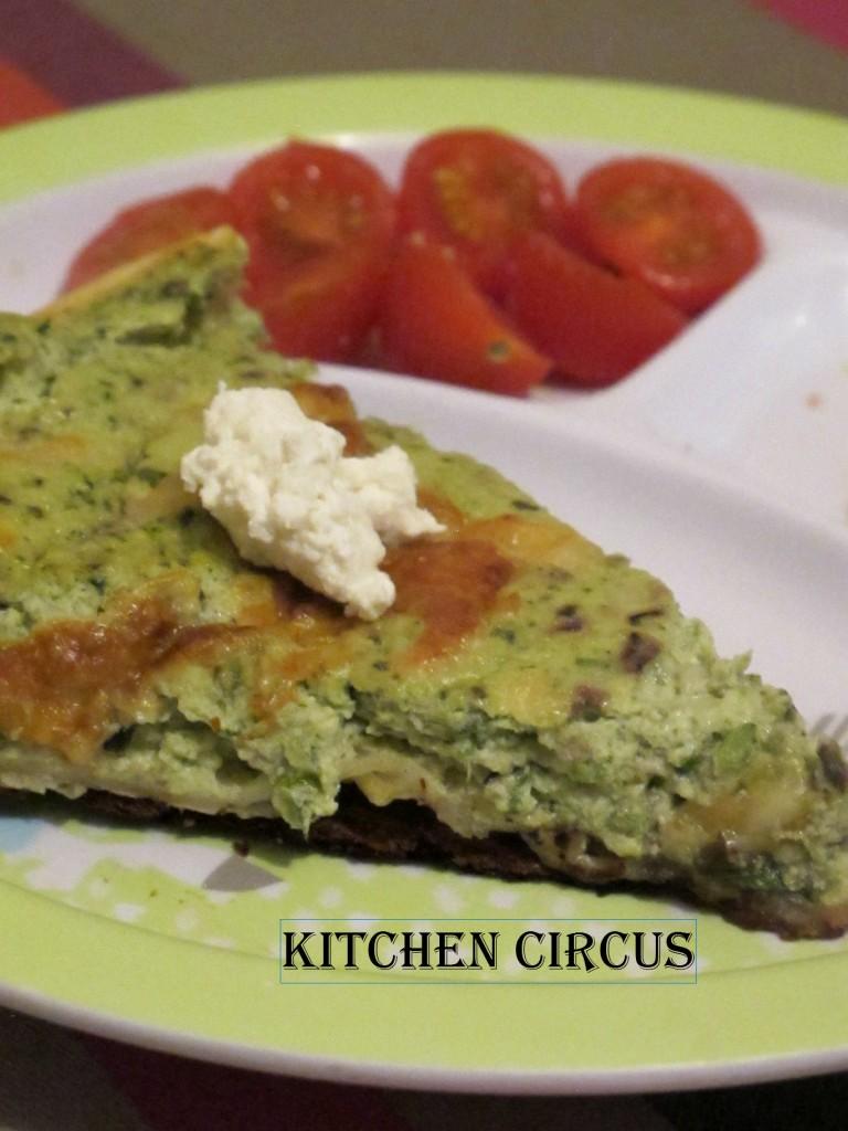 Légumes cachés: Tarte à la courgette et à la menthe au brousse dans Kitchen img_3965